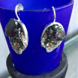 Gorgeous Sliver Geode Earrings